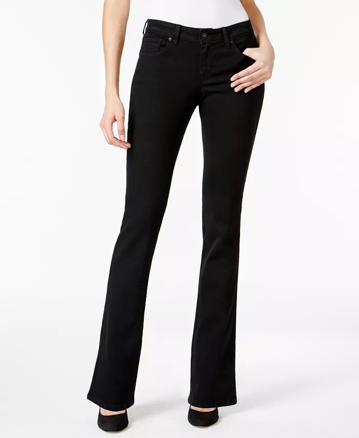 Style & Co Curvy-Fit Bootcut Jeans_best black jeans for women_revelle